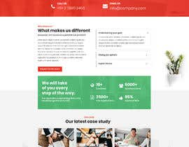 #72 untuk Design the homepage for an immigration consultancy! oleh trimnsdesigns
