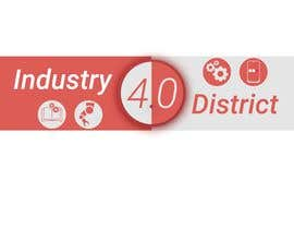 #21 untuk Try to design a futuristic logo which reflects the identity of a district that adopts the concepts of industry 4.0 (the 4th industrial revolution, which also somehow aligns with the university logo theme (attached) oleh Yoova