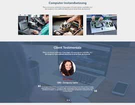 nº 55 pour Website-Design for a OnePage (no coding) for IT-support par SK813