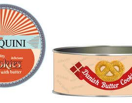 #20 cho Retro design of Danish Butter cookie in round  tin bởi anamariacionca08