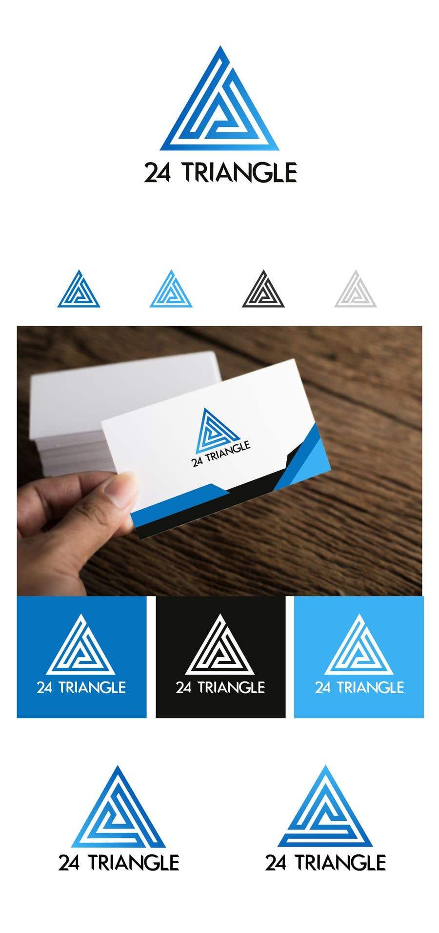 """Inscrição nº 1167 do Concurso para Create a logo for """"24 Triangle"""""""