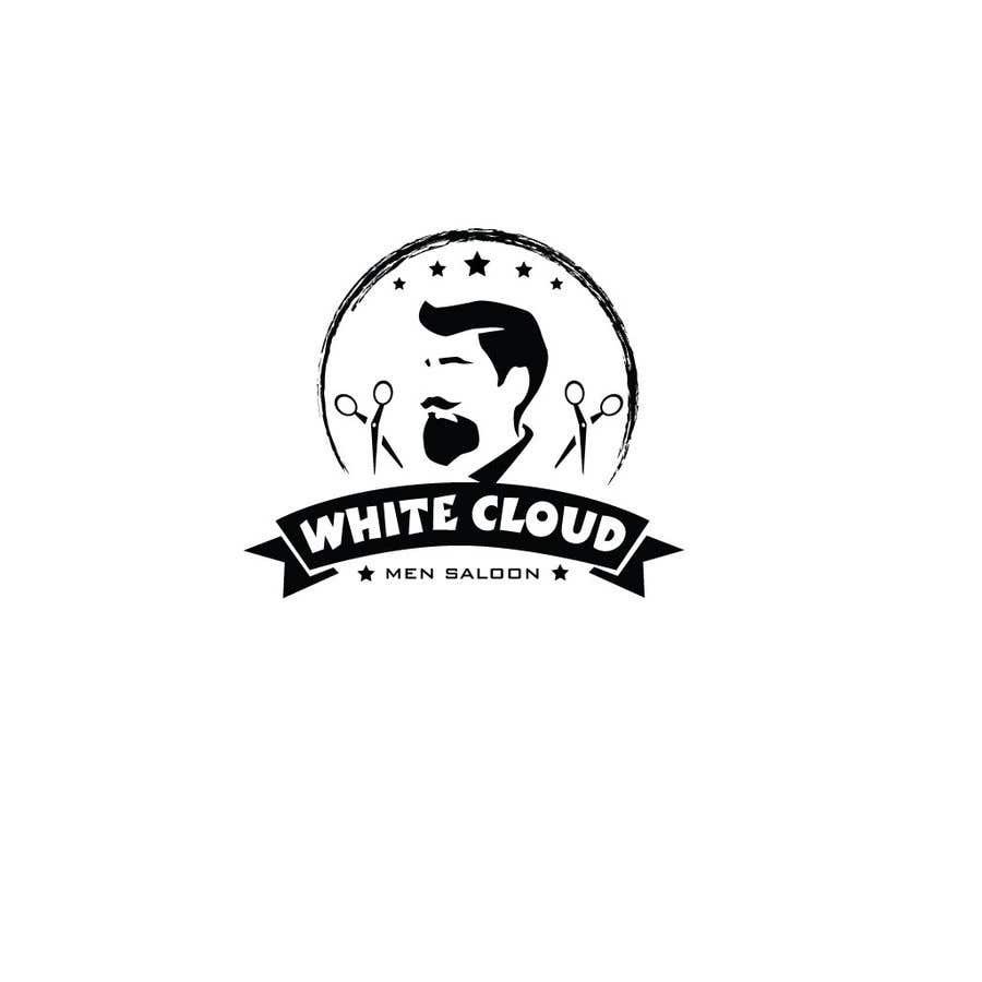 Penyertaan Peraduan #21 untuk This logo is for man saloon and its name is white cloud .. I need creative logo