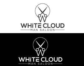 Nro 110 kilpailuun This logo is for man saloon and its name is white cloud .. I need creative logo käyttäjältä ritaislam711111