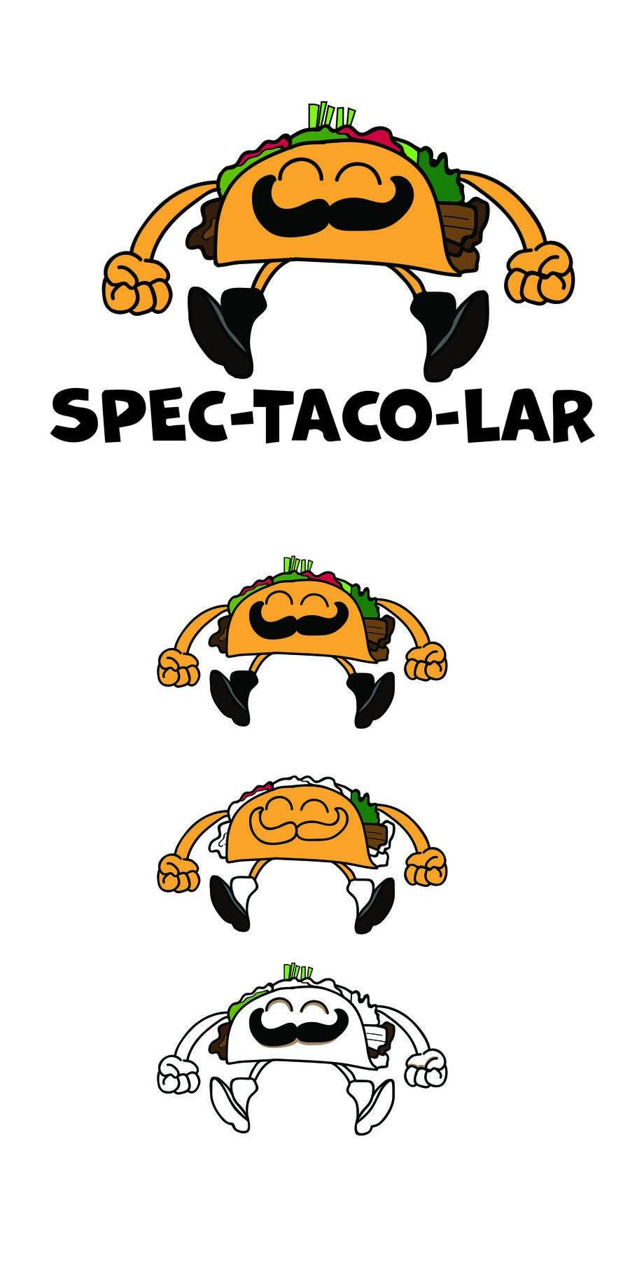 Kilpailutyö #12 kilpailussa Design a unique transparent taco sticker for a label