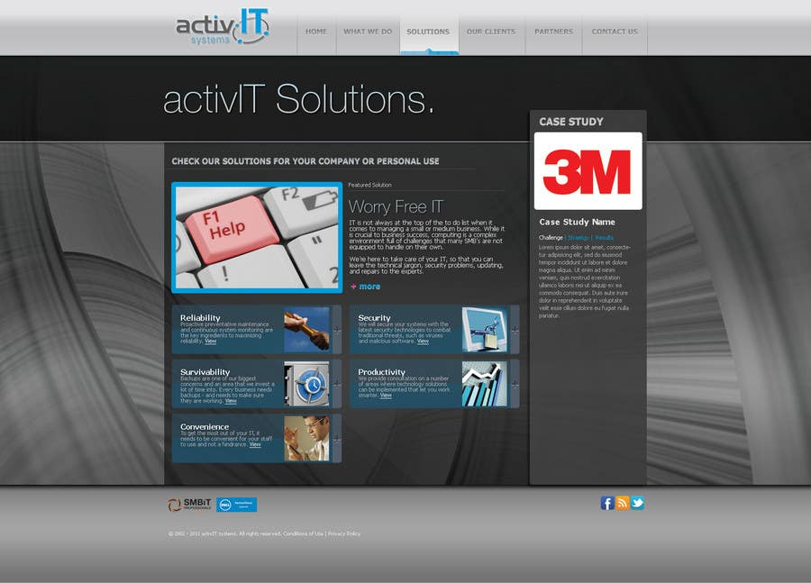 Inscrição nº                                         59                                      do Concurso para                                         Website Design for activIT systems