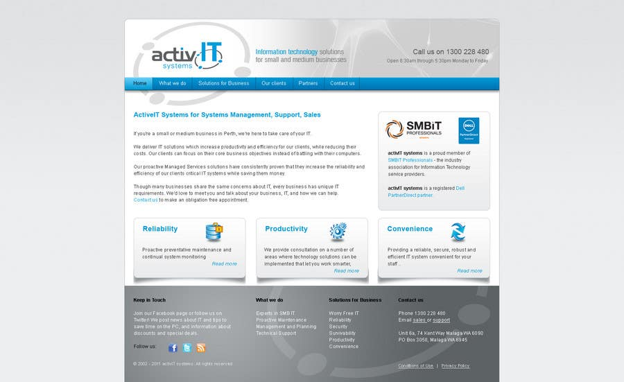 Contest Entry #18 for Website Design for activIT systems