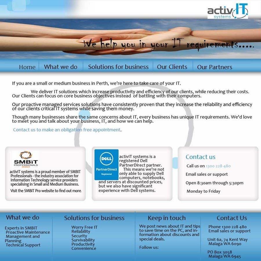 Proposition n°35 du concours Website Design for activIT systems