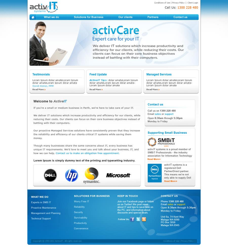 Proposition n°48 du concours Website Design for activIT systems