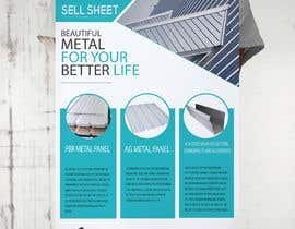 "#59 for Sell Sheet - PBR Metal Panel, Ag Metal Panel & 6"" K-Style Seamless Gutters af hmdyakub9876"