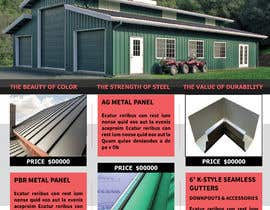 "#57 for Sell Sheet - PBR Metal Panel, Ag Metal Panel & 6"" K-Style Seamless Gutters af mahbuburrahman18"