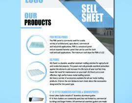 "#48 for Sell Sheet - PBR Metal Panel, Ag Metal Panel & 6"" K-Style Seamless Gutters af sarahkheid"