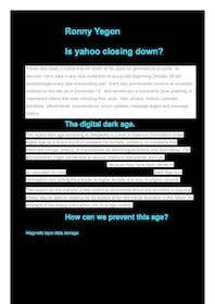 #7 for Write an interesting article on the loss of culture and digital heritage when Yahoo Groups closes af RonnYegon