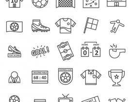 #14 untuk I need about 40 high quality custom icons for my new soccer website oleh Mdullash