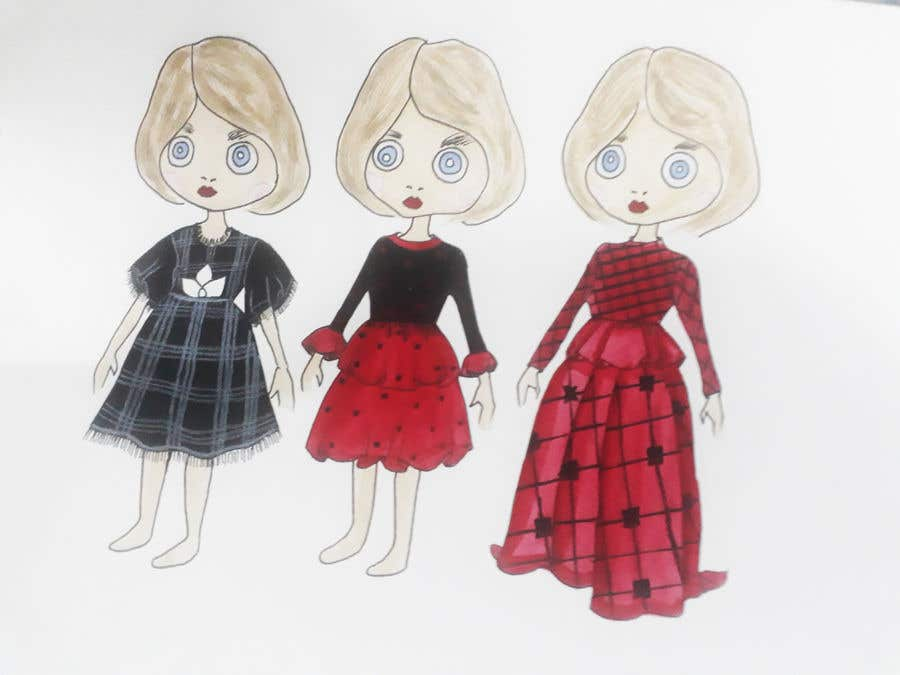 Penyertaan Peraduan #12 untuk Realstic Fashion/Costume Illustration for Doll App in Japan