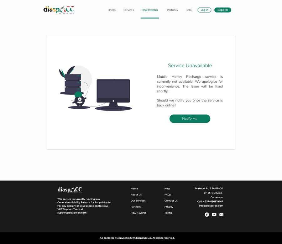Kilpailutyö #10 kilpailussa UX/UI Designer - Service unavailable page