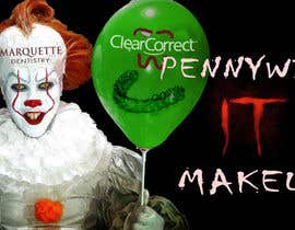 #2 untuk Use my face on Pennywise the clowns using our logo as the mark on our face. With green balloon that has ClearCorrect on it. oleh NaufalJundi19