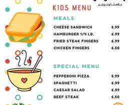 #12 for Kids Meal Menu & Same design For Reg. Web page & same for Post for Social media af salehaahmad97