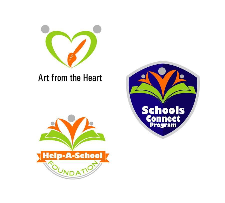 Konkurrenceindlæg #                                        1                                      for                                         Design 3 Logos for Help-A-School Foundation