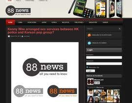 #27 for Logo + Header Backgroun Design for 88news by masgrapix