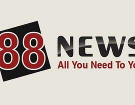 nº 48 pour Logo + Header Backgroun Design for 88news par thetouch
