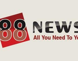 nº 50 pour Logo + Header Backgroun Design for 88news par thetouch