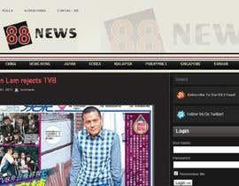 #55 untuk Logo + Header Backgroun Design for 88news oleh thetouch
