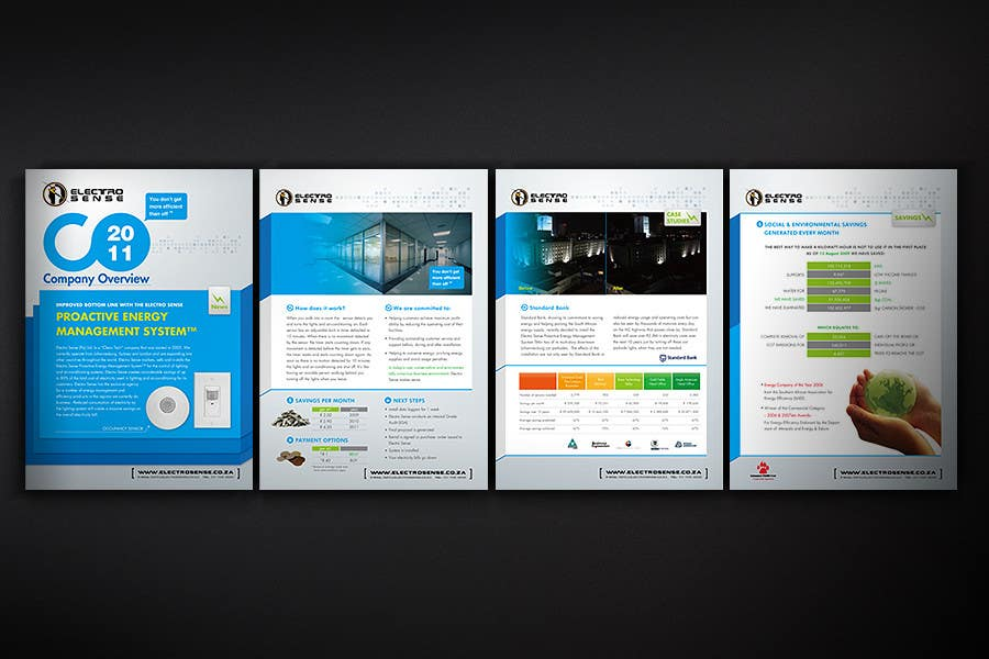 Contest Entry #                                        74                                      for                                         Brochure Design for Electro Sense