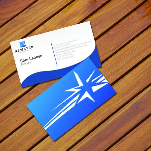 Конкурсная заявка №23 для Business Card Design for New Star Environmental