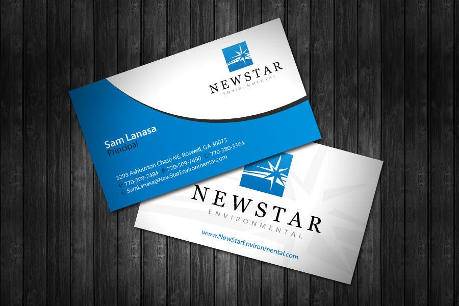 Penyertaan Peraduan #19 untuk Business Card Design for New Star Environmental