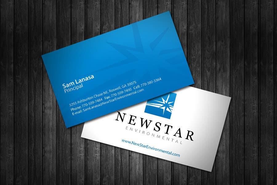 Конкурсная заявка №17 для Business Card Design for New Star Environmental