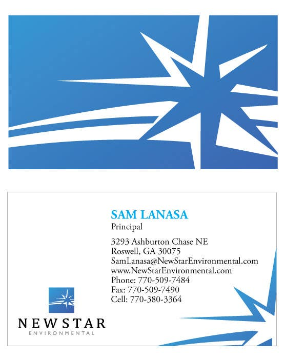 Contest Entry #89 for Business Card Design for New Star Environmental