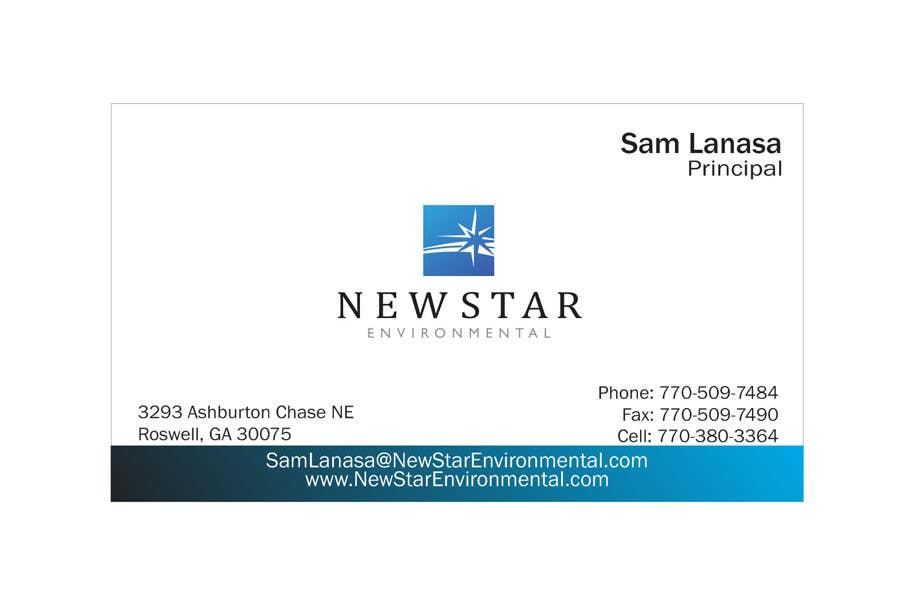 Bài tham dự cuộc thi #91 cho Business Card Design for New Star Environmental