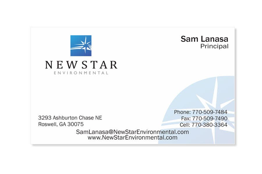 Inscrição nº 93 do Concurso para Business Card Design for New Star Environmental