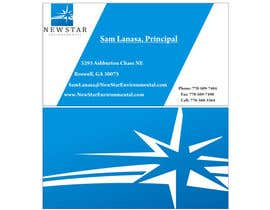 #7 for Business Card Design for New Star Environmental by mayahu