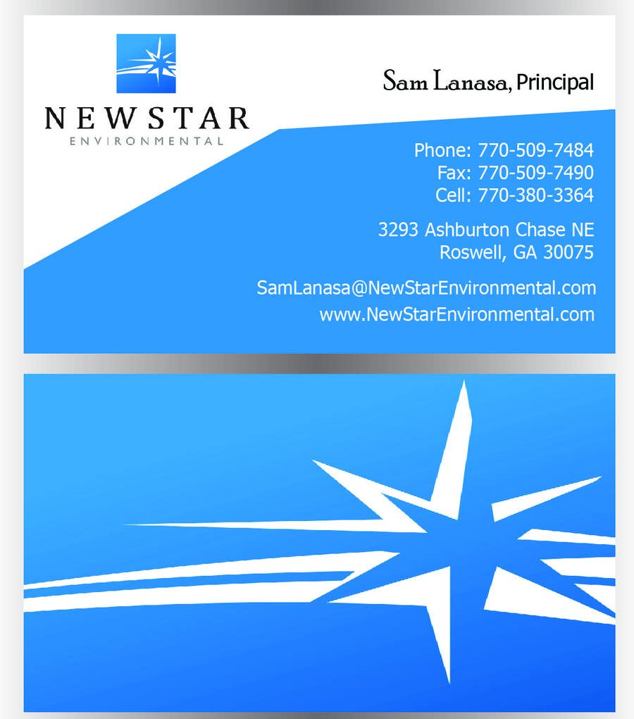 Contest Entry #111 for Business Card Design for New Star Environmental