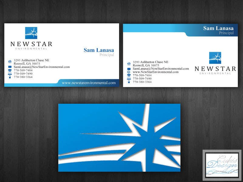 Proposition n°22 du concours Business Card Design for New Star Environmental