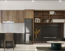 #46 for living room with small kitchen design by cknamkoi