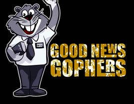 #45 for Make this Gopher a Missionary - T-Shirt Logo af RibonEliass