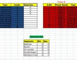 nº 33 pour build excel for permutation and combination for dream 11 fantasy league par Bapoo