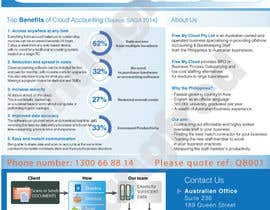 nº 9 pour A4 flyer needed to promote cloud bookeeping & accounting services par chungfred