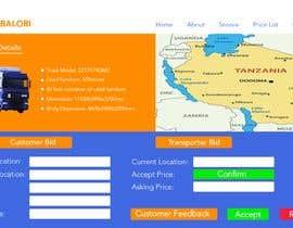 #14 para DESIGN A CLEAN UI AND MOCKUP FOR A LOGISTICS WEB APPLICATION por arifjiashan