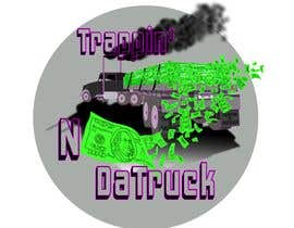 #21 for Trappin' N DaTruck—- description is...Semi truck pulling a flatbed trailer with stacks of money on the back... I want the money to look as if it's flying off the trailer by chriterbear