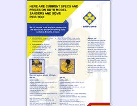 #60 для Design advertising flyer for industrial sander от bayazidfarazi