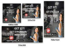 nº 12 pour Banners for Mobile Fitness App par asma467