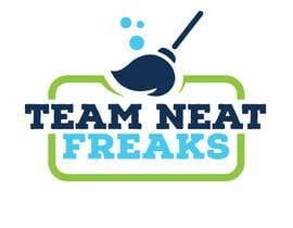 """allreagray tarafından I need a logo for my cleaning company """"Team Neat Freaks"""". Custom lettering and graphic. I've attached a few ideas I like including the colors I want it to have.  Clean but hip as well, may also have a sports team element hence the name """"Team"""" Neat Freaks için no 93"""