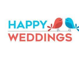 nº 656 pour Happy Weddings.Com Logo to be designed par gianfausto