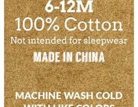 #52 untuk Clothing printed tag oleh takemenet