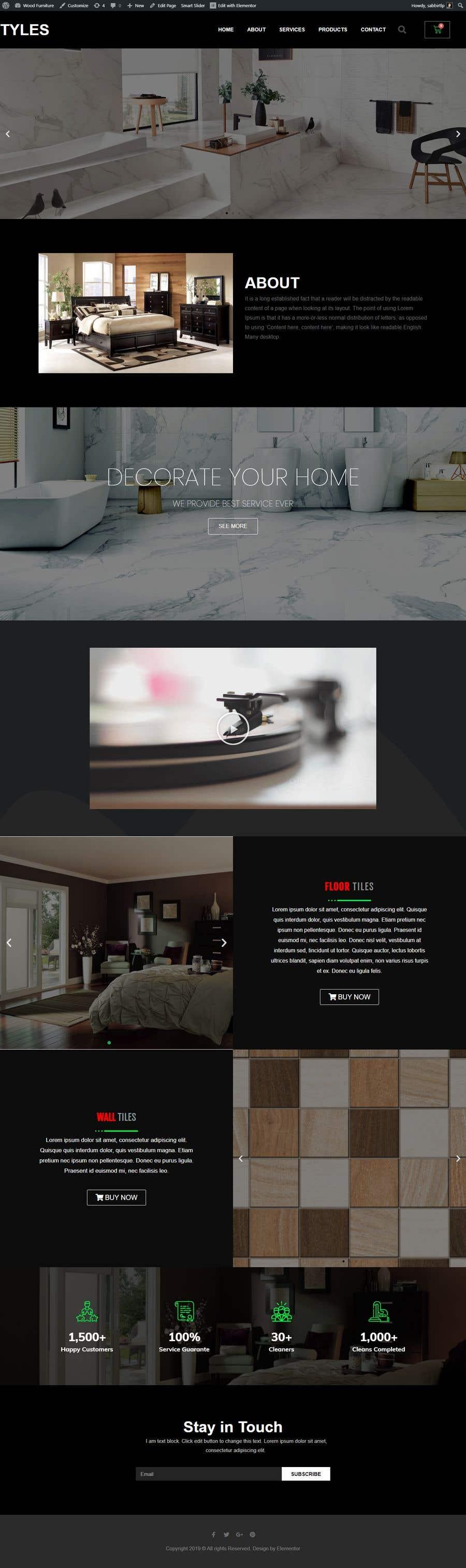 """Intrarea #24 pentru concursul """"Wordpress Website redesign 3 pages"""""""