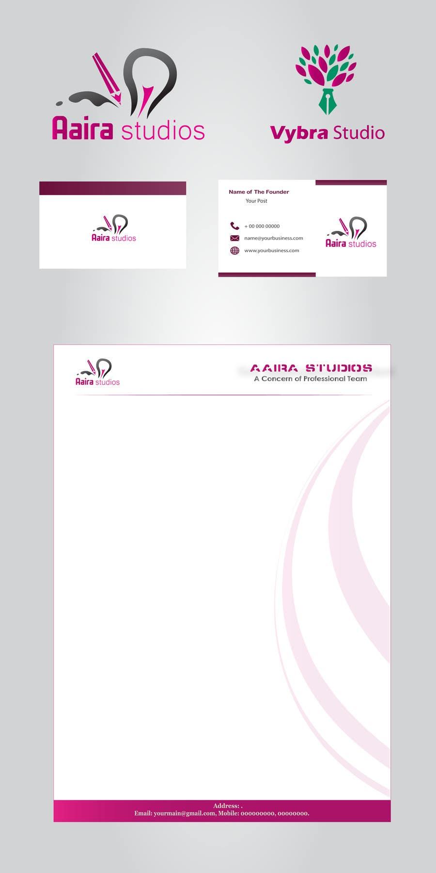 Kilpailutyö #                                        24                                      kilpailussa                                         Design a Logo for Aaira Studios and Vybra Studio with Business cards and Letterheads