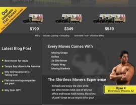 #27 para Design a Website Mockup for shirtlessmovers.com por lola2021
